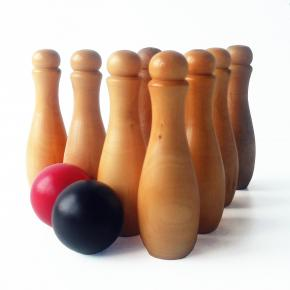 Wooden Skittle Set